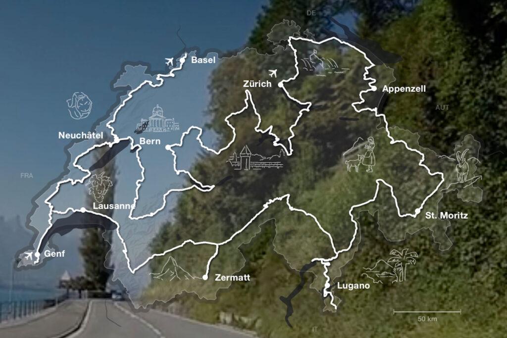 Kirchen am Weg der Grand Tour of Switzerland